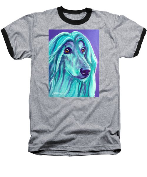 Afghan Hound - Aqua Baseball T-Shirt
