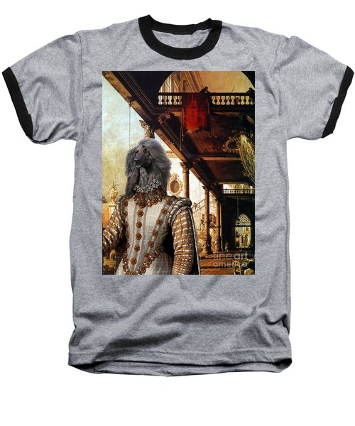 Afghan Hound-capriccio Of Colonade And The Courtyard Of A Palace Canvas Fine Art Print Baseball T-Shirt