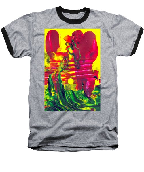 Africa - Abstract Colorful Mixed Media Painting Baseball T-Shirt