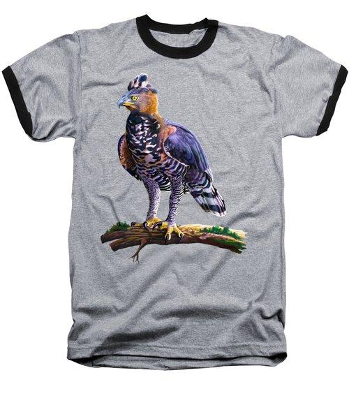 African Crowned Eagle  Baseball T-Shirt by Anthony Mwangi