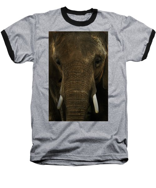 Baseball T-Shirt featuring the photograph African Elephant by Michael Cummings