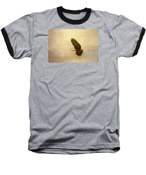 African Fish Eagle Baseball T-Shirt by Kathy Adams Clark