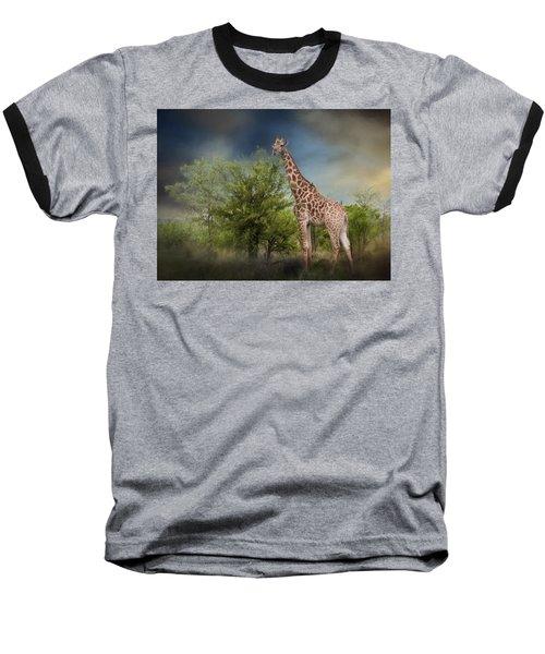 African Giraffe Baseball T-Shirt