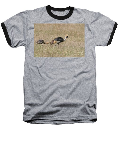 African Grey Crown Crane Baseball T-Shirt