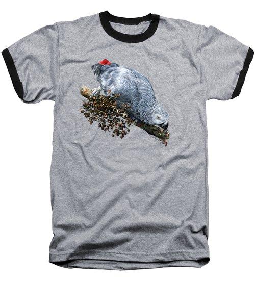 African Grey Parrot A Baseball T-Shirt