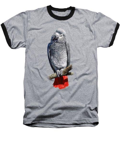 African Grey Parrot C Baseball T-Shirt