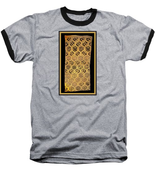 Baseball T-Shirt featuring the digital art African Kuba Cloth Print by Vagabond Folk Art - Virginia Vivier