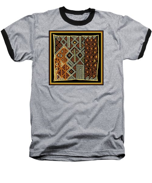 Baseball T-Shirt featuring the digital art African Kuba View From Earth by Vagabond Folk Art - Virginia Vivier