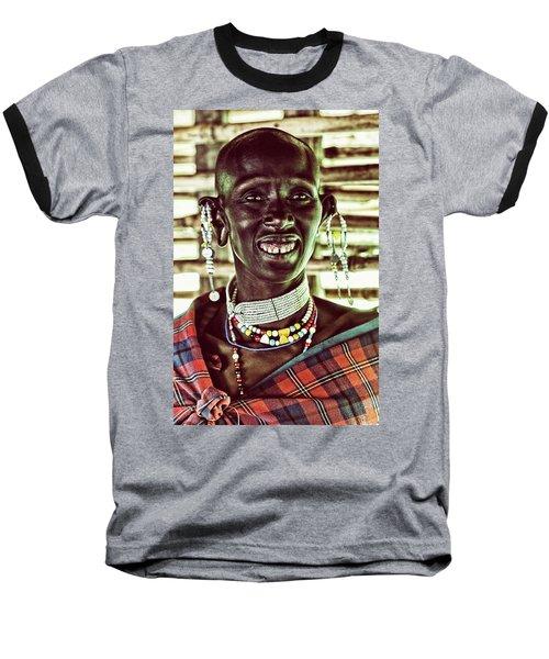 African Maasai Teacher Baseball T-Shirt