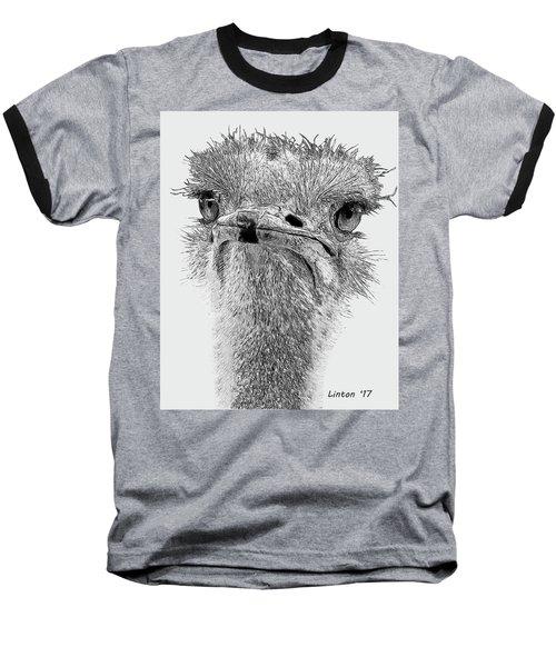 African Ostrich Sketch Baseball T-Shirt