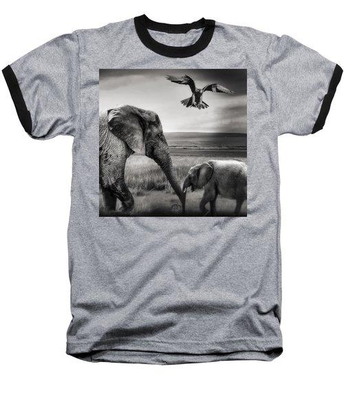 African Playground Baseball T-Shirt