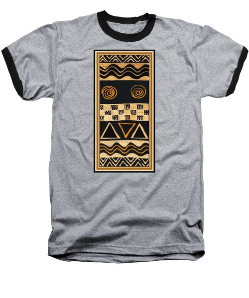 Baseball T-Shirt featuring the digital art African Primordial Spirits - 2 by Vagabond Folk Art - Virginia Vivier