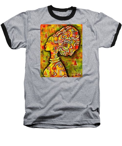 African Queen Baseball T-Shirt by Julie Hoyle