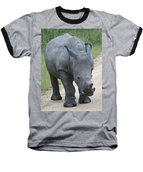 African Rhino Baseball T-Shirt