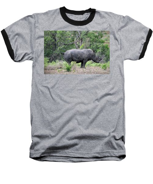 African Safari Naughty Rhino Baseball T-Shirt