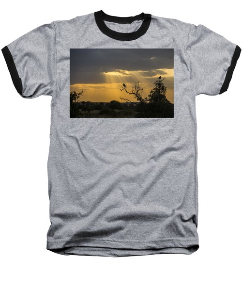 African Sunset 2 Baseball T-Shirt by Kathy Adams Clark