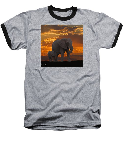 African Sunset-k Baseball T-Shirt