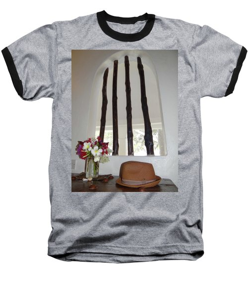 African Table With Flowers And Hat Baseball T-Shirt