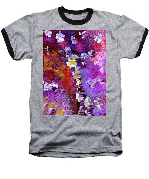 African Violet Awake #5 Baseball T-Shirt