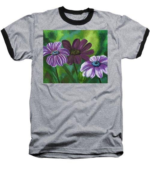 African Violets Baseball T-Shirt