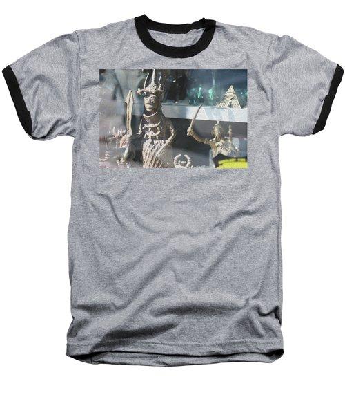 African Warrior Figurine Baseball T-Shirt
