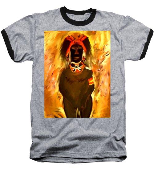 African Warrior Baseball T-Shirt by Kelly Turner