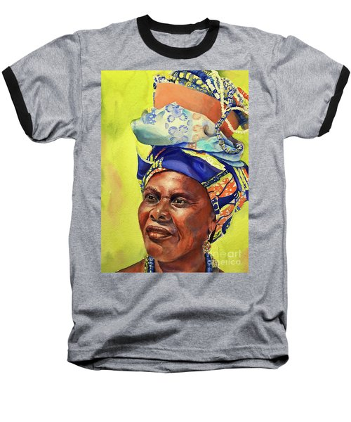 African Woman Baseball T-Shirt