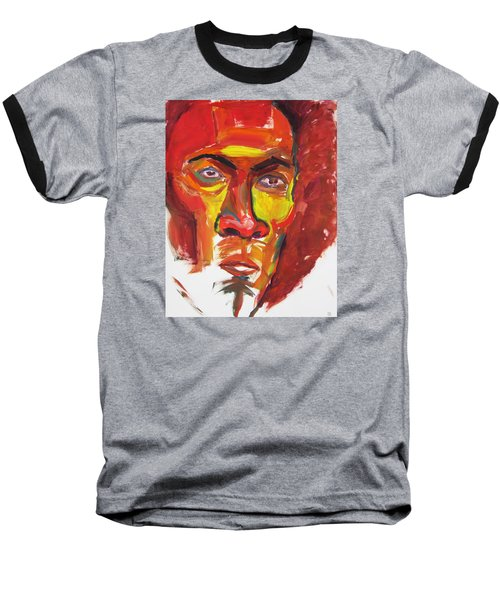 Baseball T-Shirt featuring the painting Afro by Shungaboy X