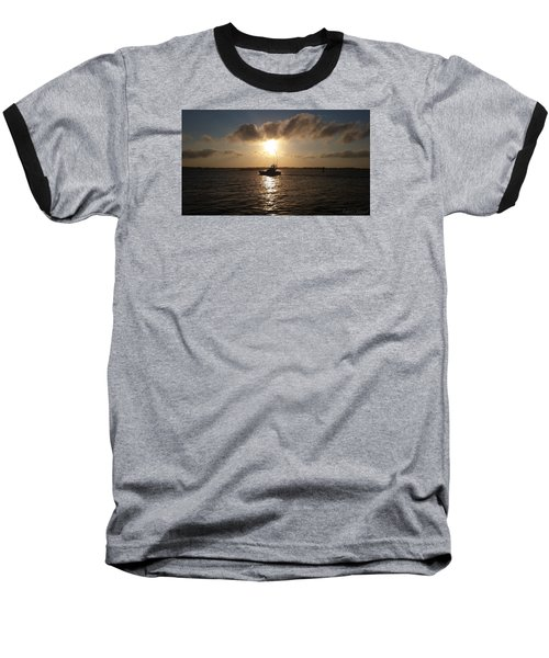 Baseball T-Shirt featuring the photograph After A Long Day Of Fishing by Robert Banach