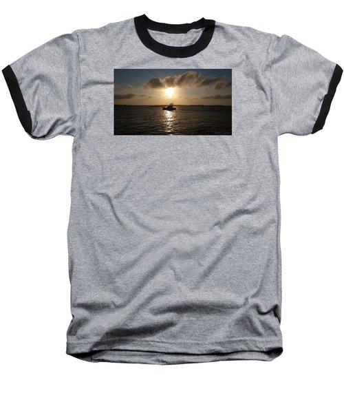After A Long Day Of Fishing Baseball T-Shirt by Robert Banach