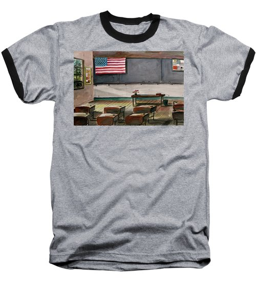 Baseball T-Shirt featuring the painting After Class by John Williams