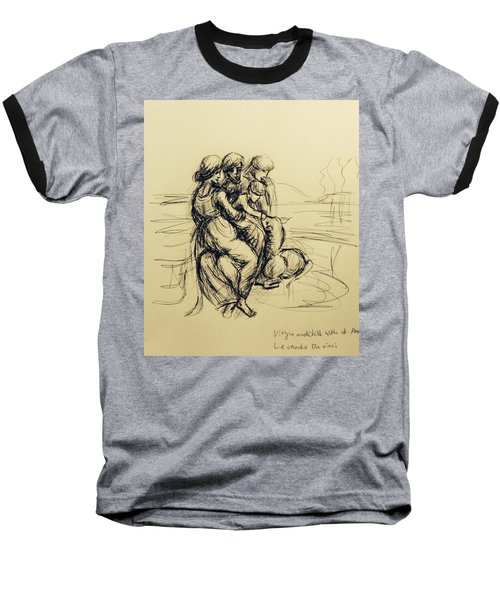 After Leonardo Da Vinci  Baseball T-Shirt by Hae Kim