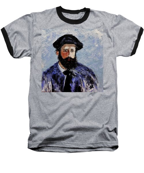 After Monet-self Portrait With A Beret  Baseball T-Shirt by Cristina Mihailescu