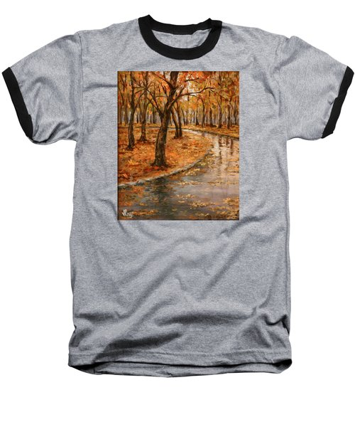 After Rain,walk In The Central Park Baseball T-Shirt