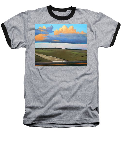 Baseball T-Shirt featuring the painting After Shower by Gary Coleman