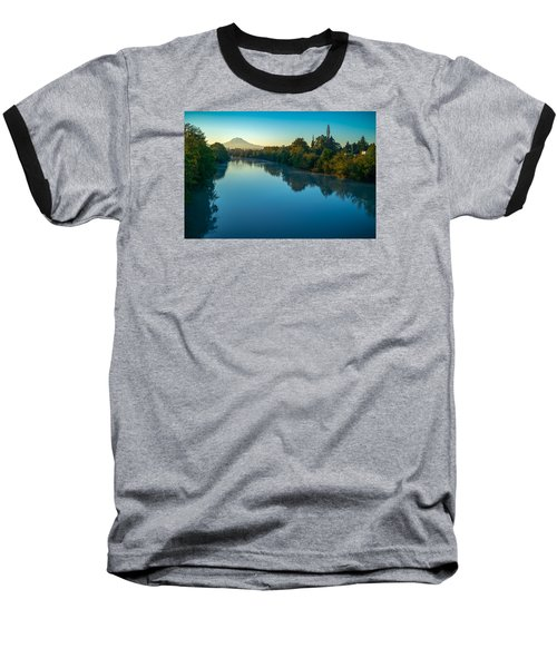 Baseball T-Shirt featuring the photograph After Sunrise by Ken Stanback