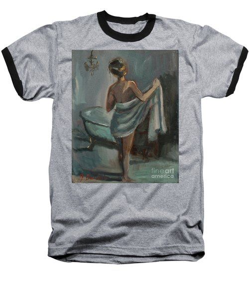 After The Bath Baseball T-Shirt by Jennifer Beaudet