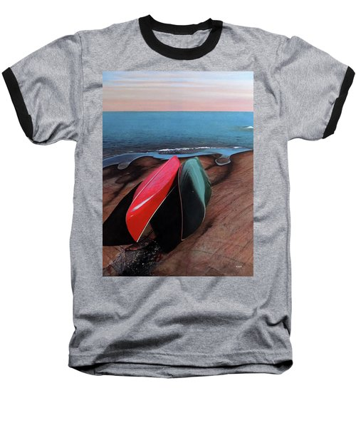 Baseball T-Shirt featuring the painting After The Crossing by Kenneth M Kirsch