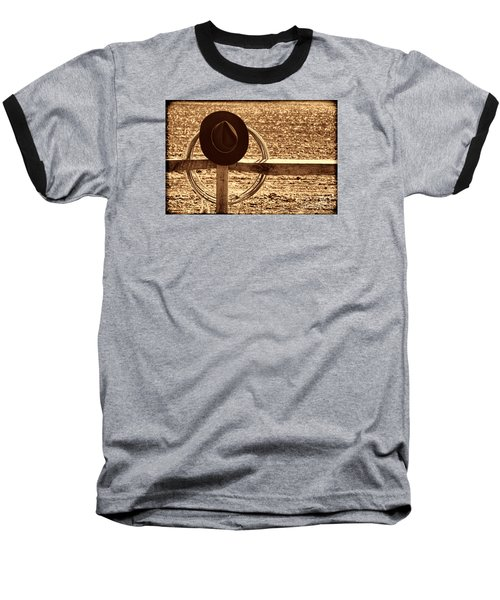 After The Drive Baseball T-Shirt by American West Legend By Olivier Le Queinec