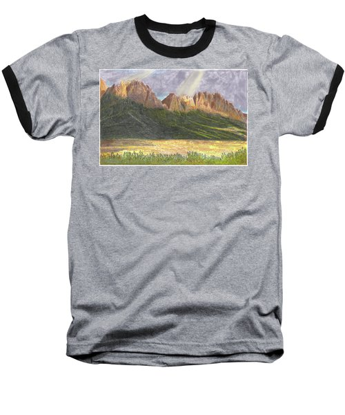 Baseball T-Shirt featuring the painting After The Monsoon Organ Mountains by Jack Pumphrey