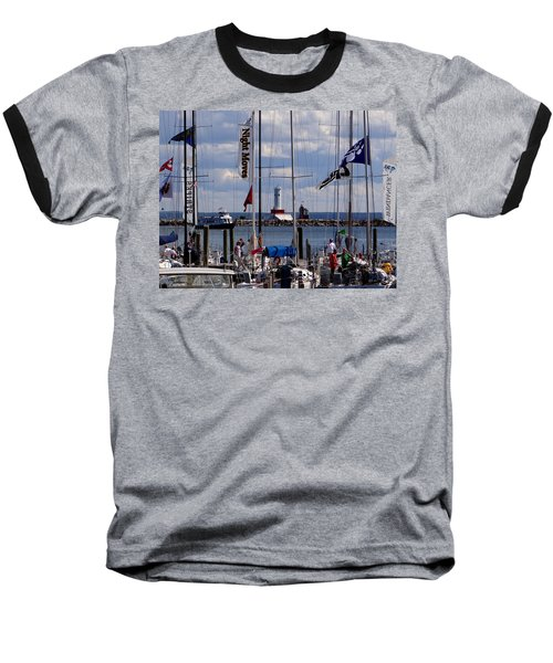 After The Race Baseball T-Shirt by Keith Stokes