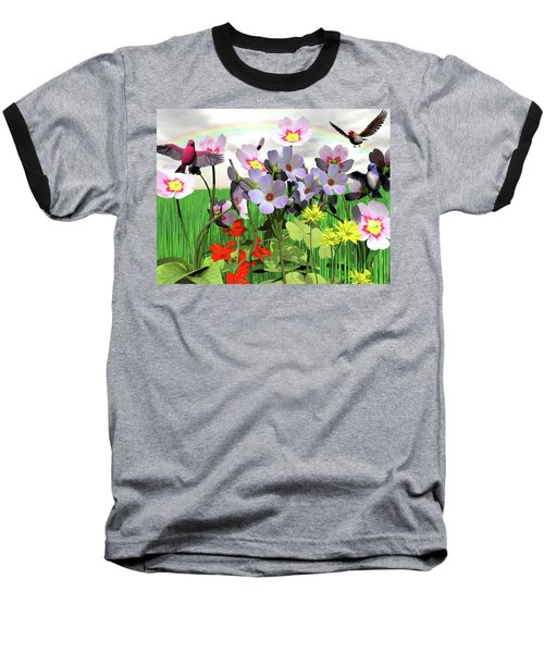 After The Rain Comes The Rainbow Baseball T-Shirt by Michele Wilson