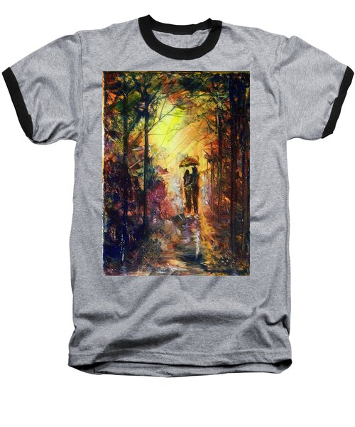 Baseball T-Shirt featuring the painting After The Rain by Raymond Doward