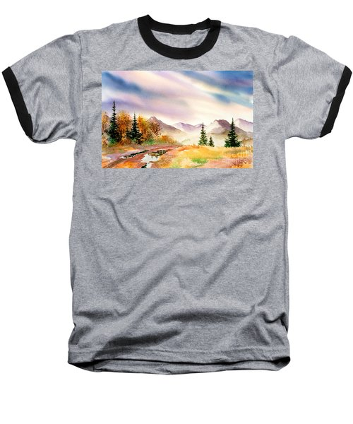 Baseball T-Shirt featuring the painting After The Rain by Teresa Ascone