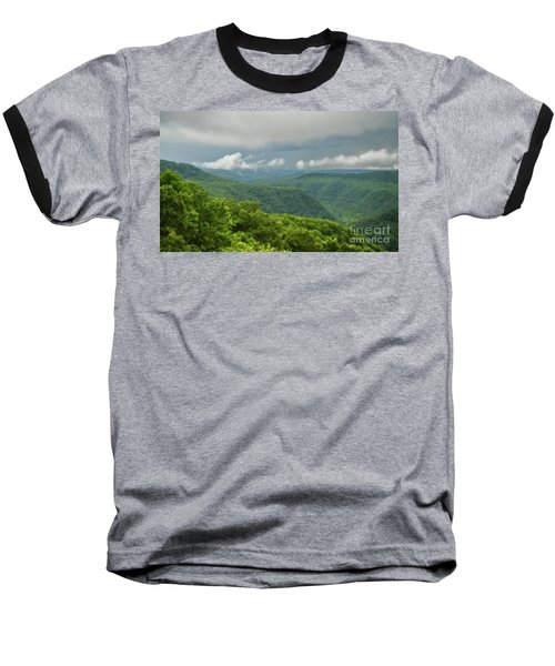 Baseball T-Shirt featuring the photograph After The Rain - The Bluestone Gorge At Pipestem State Park by Kerri Farley