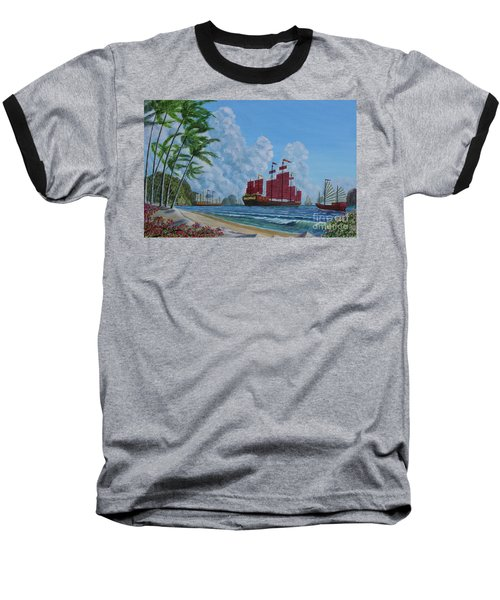 Baseball T-Shirt featuring the painting After The Storm by Anthony Lyon