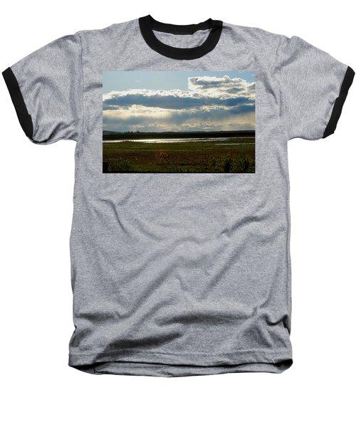 After The Storm Baseball T-Shirt by Nancy Landry
