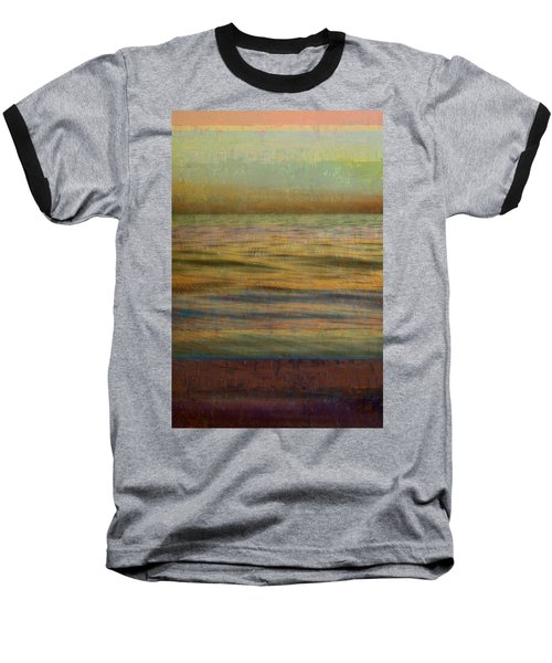 Baseball T-Shirt featuring the photograph After The Sunset - Teal Sky by Michelle Calkins