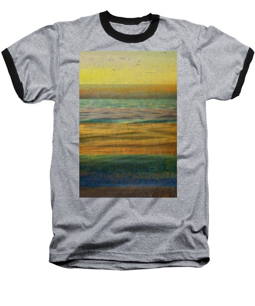 Baseball T-Shirt featuring the photograph After The Sunset - Yellow Sky by Michelle Calkins