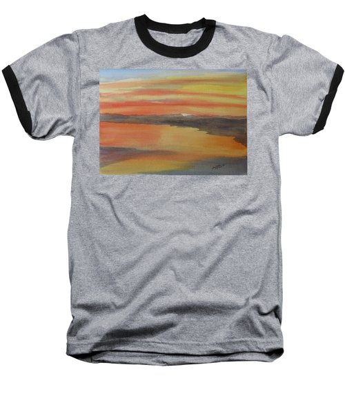 Baseball T-Shirt featuring the painting Afterglow by Joel Deutsch